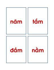Flash Card (chỉ có chữ) – Bộ hình tập đọc cho bé Lớp Lá và Lớp 1 (không có hình minhhọa)
