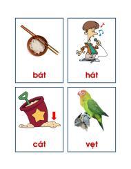 Flash Card – 88 hình tập đọc – Lớp Lá & Lớp 1 (có hình minhhọa)